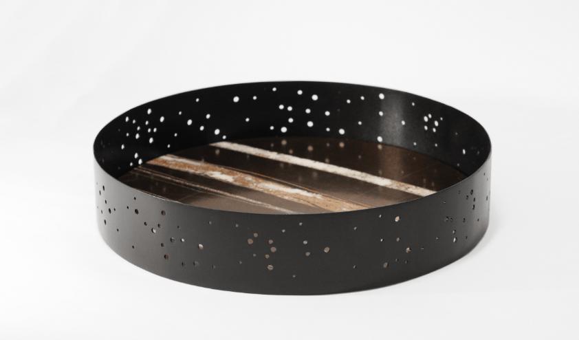 Eclittica, vassoio in marmo per Kimano, Stella Orlandino design