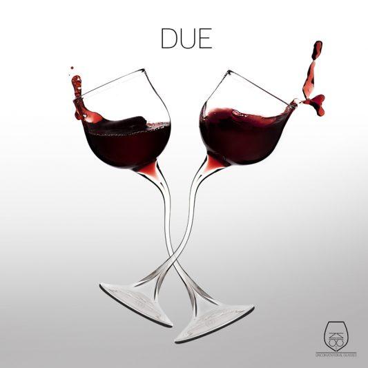 Due, wine glass, cin cin unconventional glasses, Stella Orlandino design