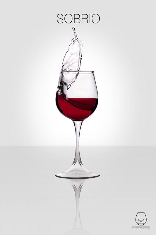 Sobrio, wine glass, cin cin unconventional glasses, Stella Orlandino design