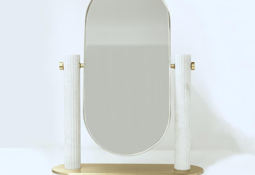 Culti Domestici, specchio da toletta, Stella Orlandino design